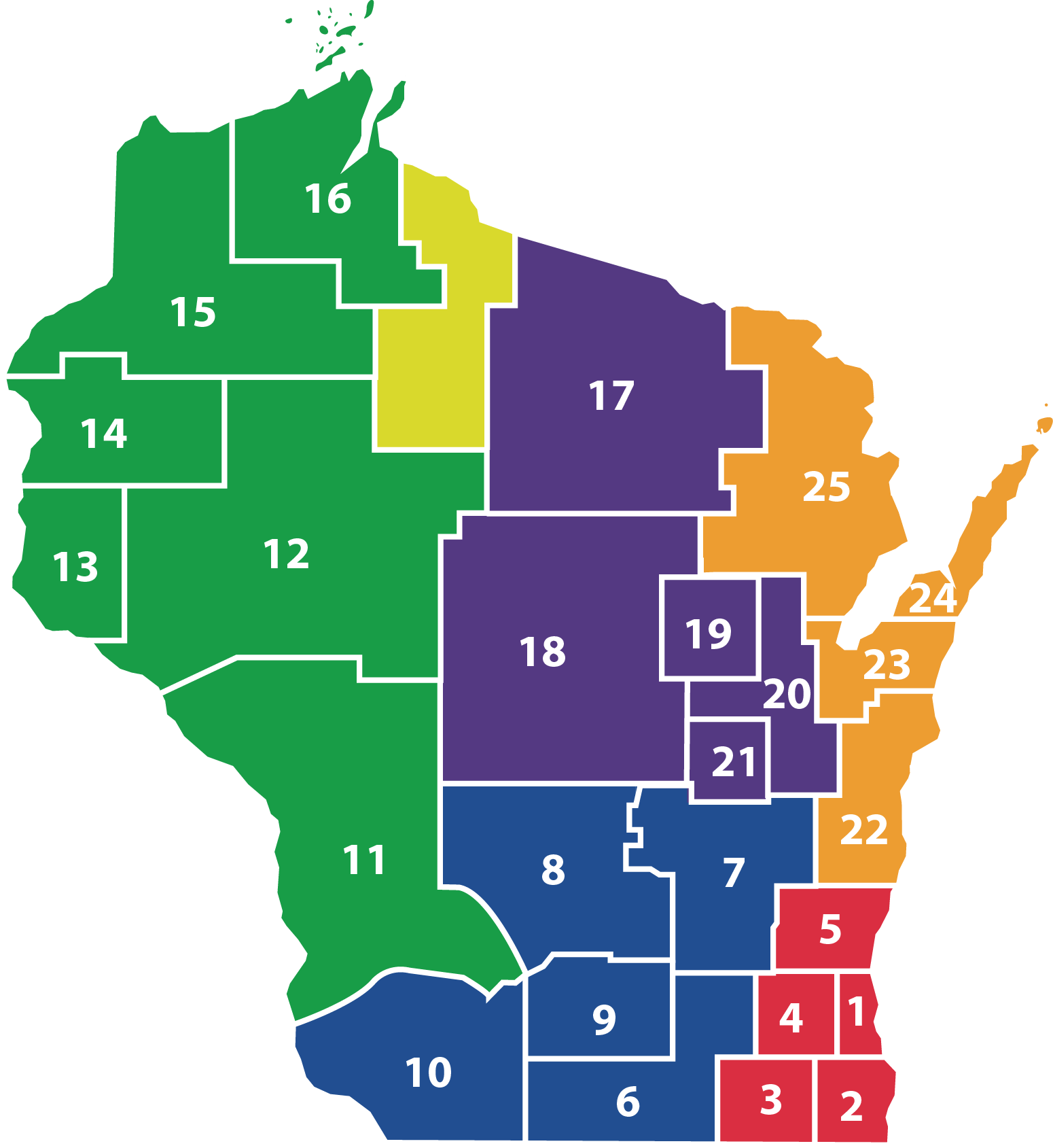 Map of WI WSRA local reading councils